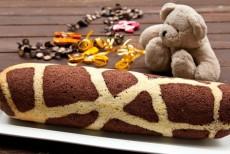 Рулет «Жираф» с шоколадно — ореховым кремом