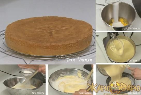 Бисквит на сливочном масле рецепт с фото