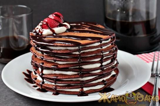 Блинный шоколадный торт рецепт