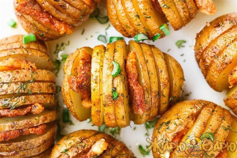 Рецепт Печеный картофель «Гармошка»