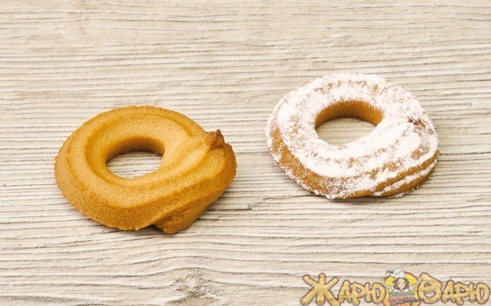 Печенье «колечки» в сахарной пудре