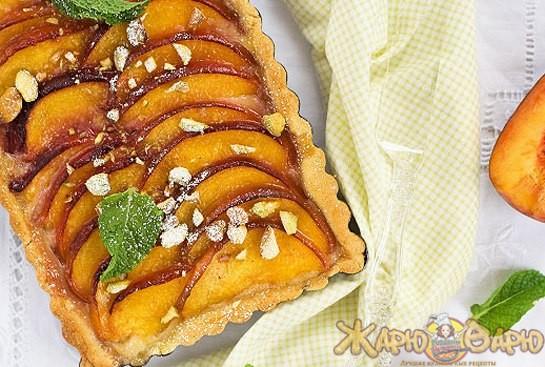Кремовый пирог с персиками рецепт