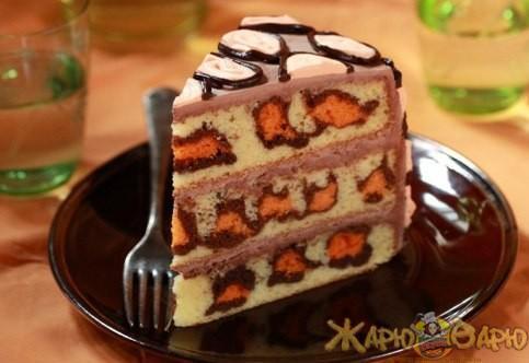 Леопардовый торт рецепт