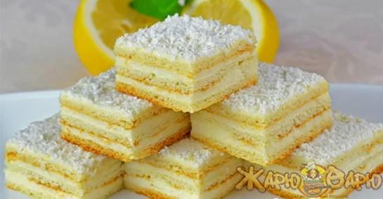 Бисквитный торт с лимоном рецепт