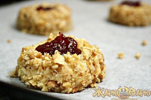 Ореховое печенье с джемом