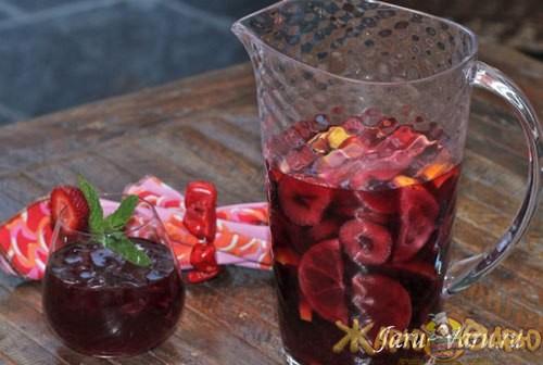 Цитрусовая сангрия с клубникой рецепт