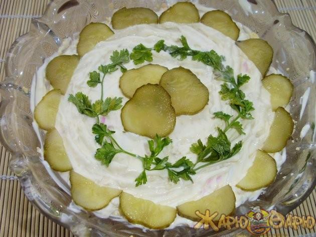 Салат с куриной печенью рецепт с фото пошагово